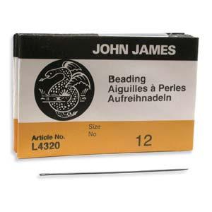 Beading #12 Needle 25pk, John James