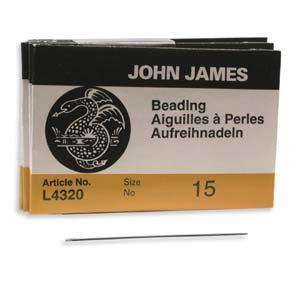 Beading #15 Needle 25pk, John James