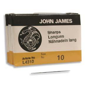 John James Sharps Needle Size 10 25pk