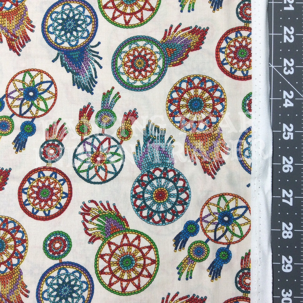 Native Pattern Beaded Dreamcatchers Cream