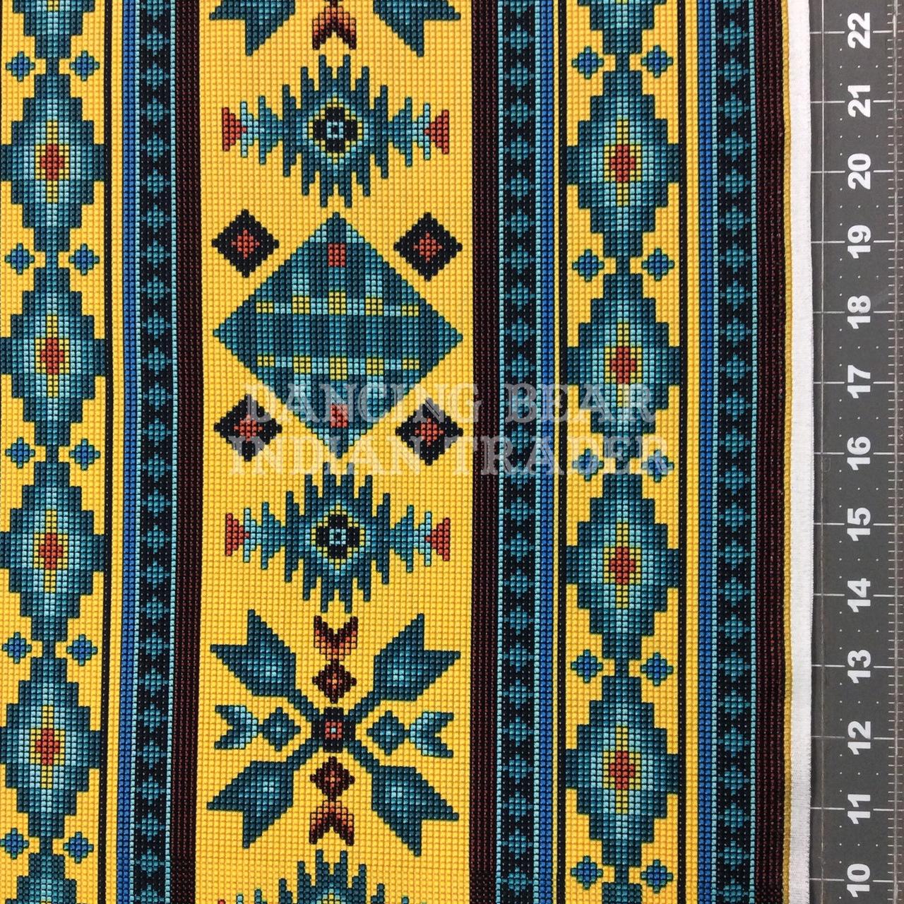 Native Pattern Beaded Stripe Yellow