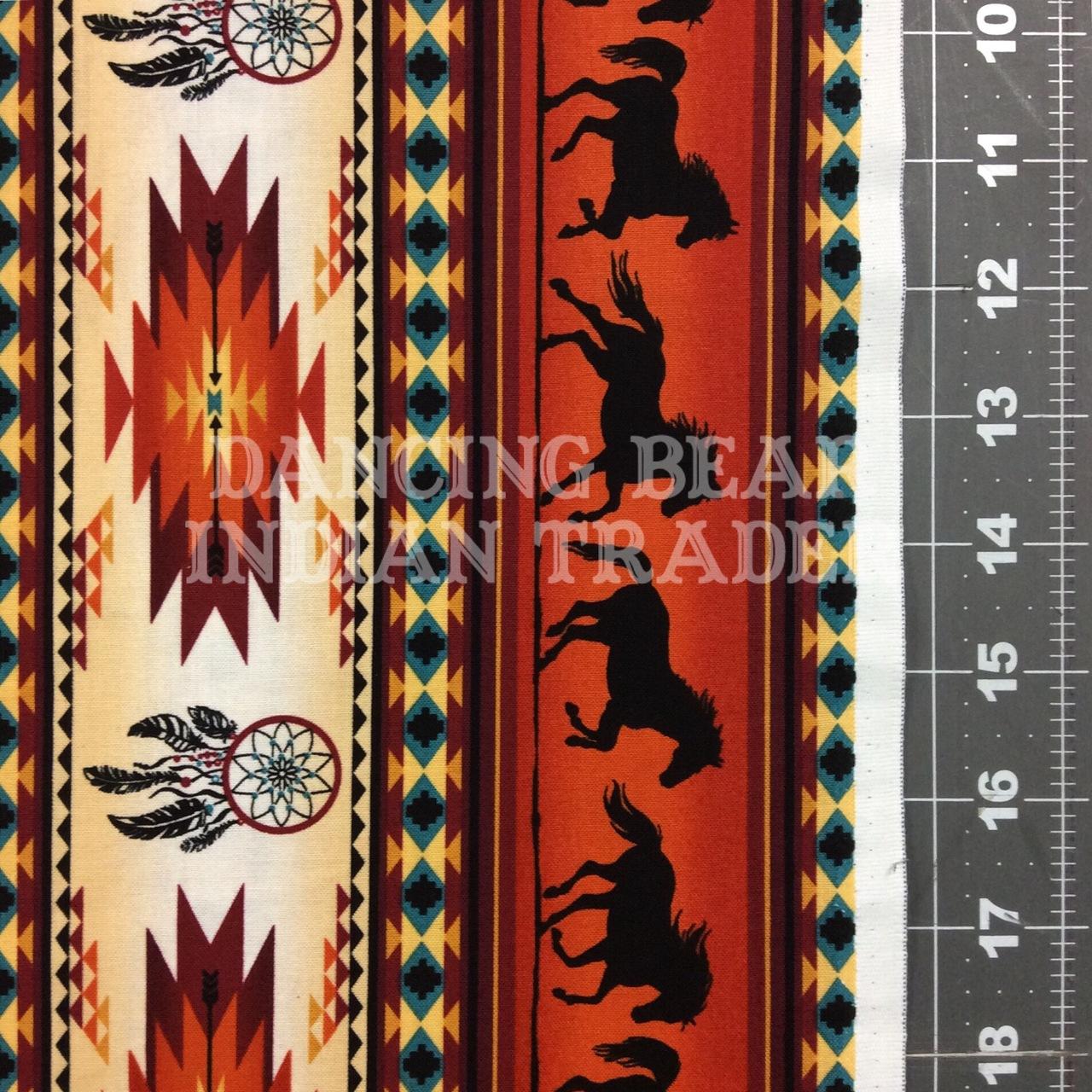Native Pattern Horse Stripe Terracotta