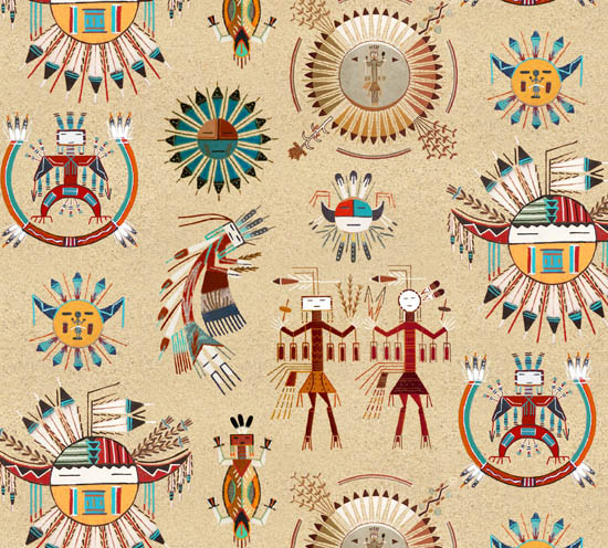 Native Pattern Sand Painting -Back in stock October 2020