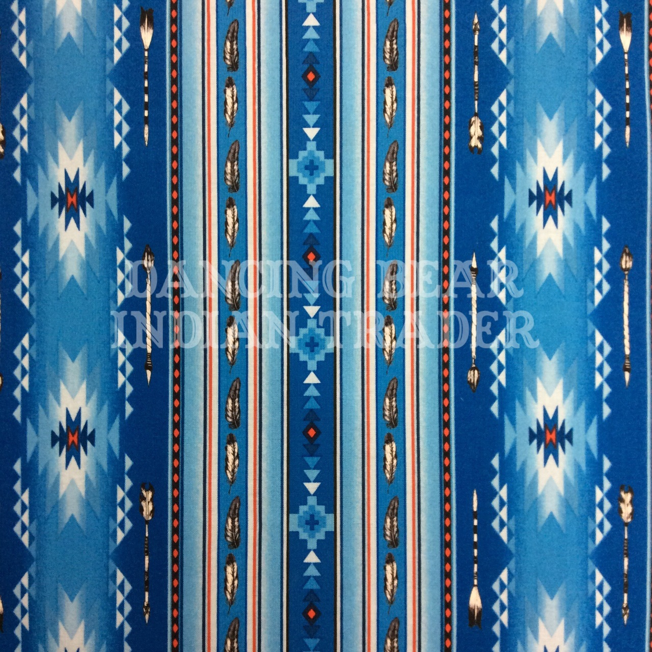 Native Pattern Stripe Feather Blue -Back in stock August/September 2020