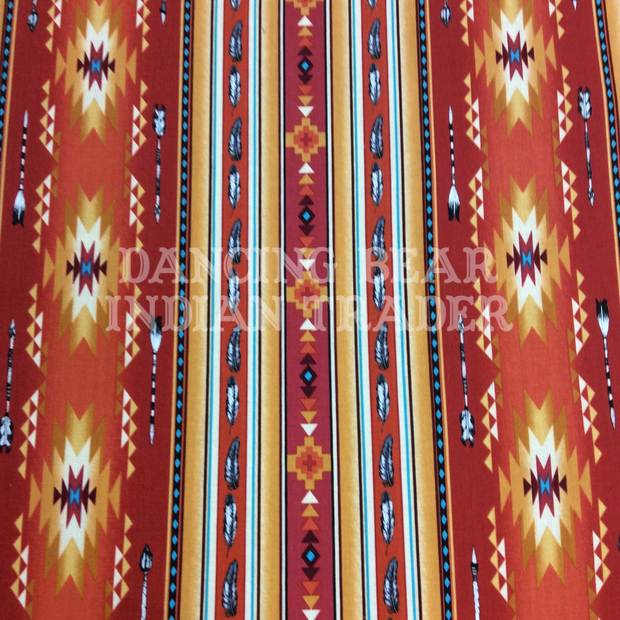 Native Pattern Stripe Feather Terracotta - Back in stock September 2020