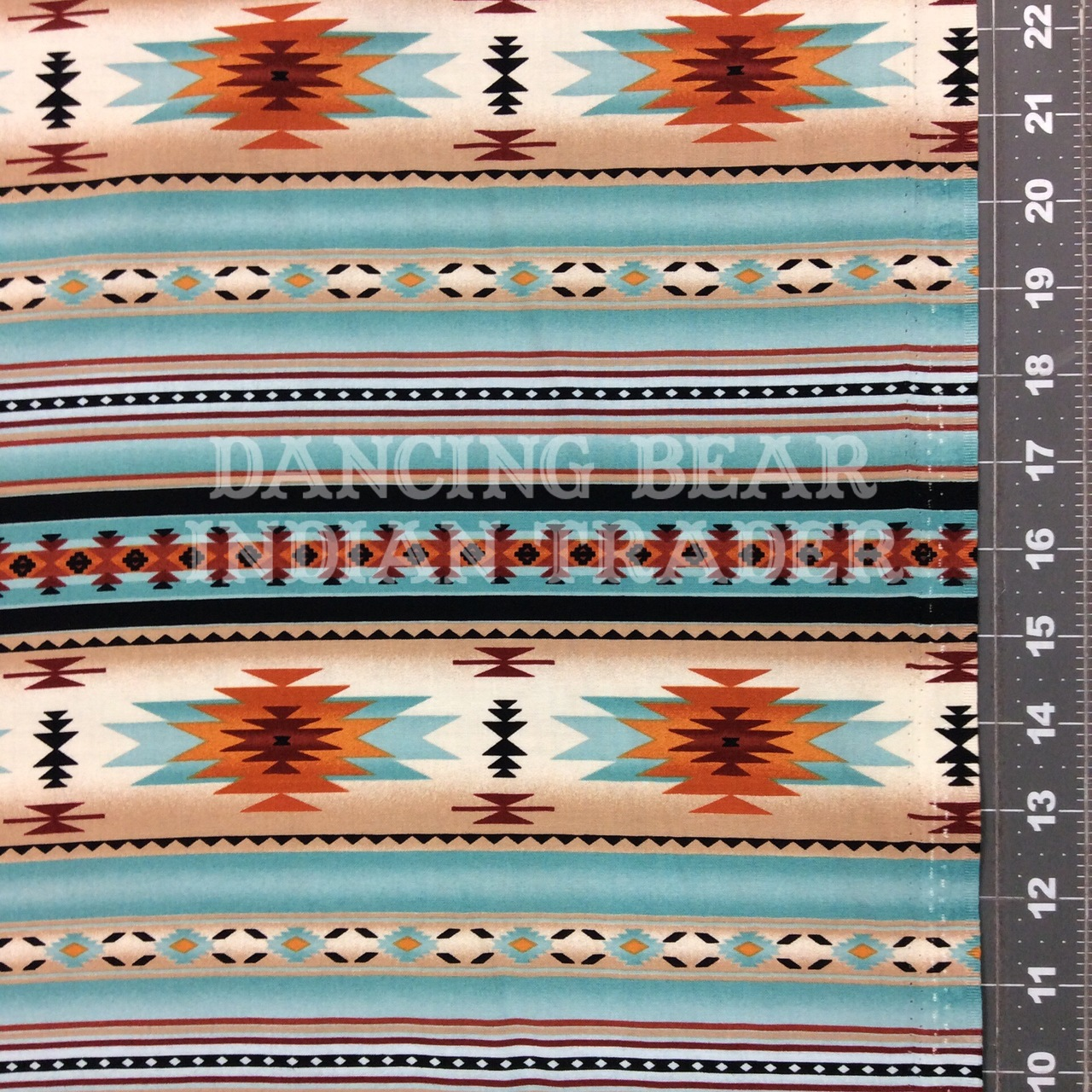 Native Pattern Stripe Light Turquoise