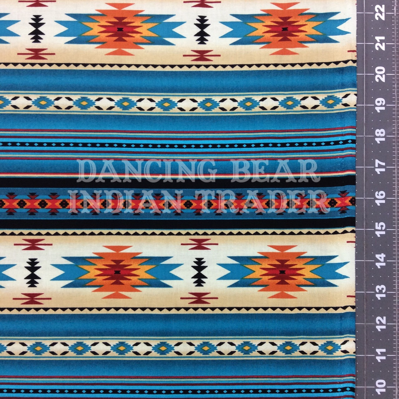 Native Pattern Stripe Turq