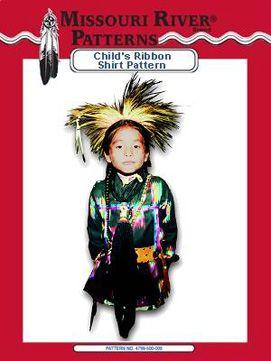 Pattern Child's Ribbon Shirt