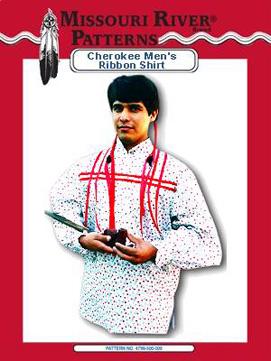 Pattern Mens Cherokee Men's Ribbon Shirt