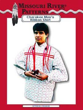 Pattern Cherokee Men's Ribbon Shirt
