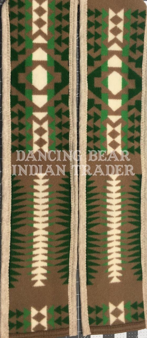 Pendleton Blanket Graduation Stole Tan-Green Limted