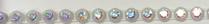 17pp-ss8 Crystal AB/Clear Bkg, 1 yard Rhinestone Banding