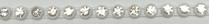 17pp-ss8 Crystal/White Bkg, 1 yard Rhinestone Banding