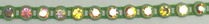 26pp-ss13 Crystal AB/Acid Green Bkg, 1 yard Rhinestone Banding -out if stock