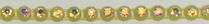 26pp-ss13 Crystal AB/Neon Yellow Bkg, 1 yard Rhinestone Banding