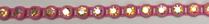 26pp-ss13 Crystal AB/Pink Bkg, 1 yard Rhinestone Banding