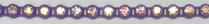26pp-ss13 Crystal AB/Purple Bkg, 1 yard Rhinestone Banding