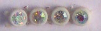 26pp-ss13 Crystal AB/White Bkg, 1 yard Rhinestone Banding