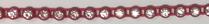 26pp-ss13 Crystal/Red Bkg, 1 yard Rhinestone Banding