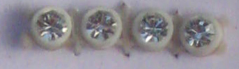 26pp-ss13 Crystal/White Bkg, 1 yard Rhinestone Banding