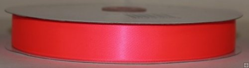 Satin Ribbon 3/8 Neon Pink #058N 100 yards
