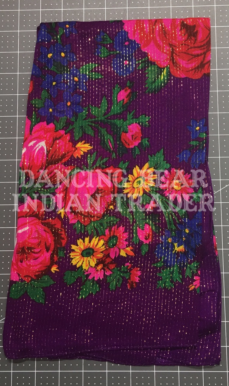 Scarf Metallic Floral Purple 284