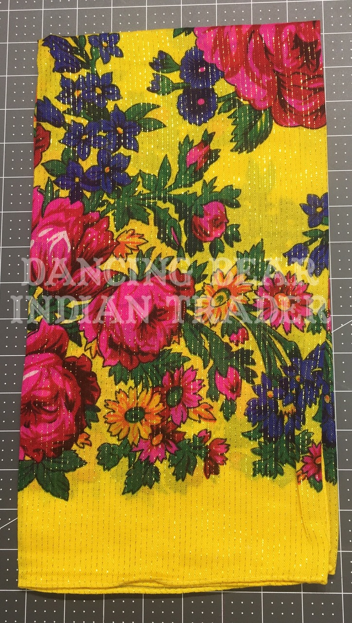 Scarf Metallic Floral Yellow 146-Out of stock