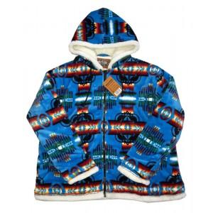 Sherpa Plush Fleece Jacket Turquoise