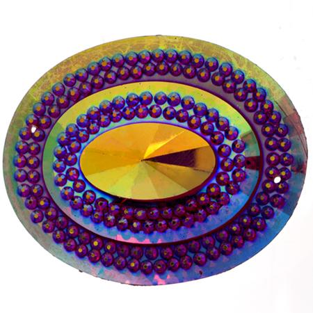 Sparkle Berry Glitz Oval Fuschia