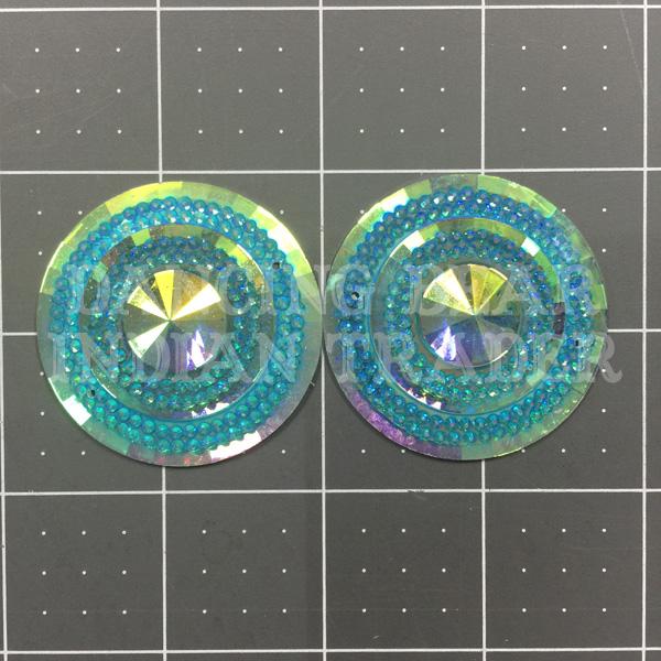 Sparkle Berry Glitz Round Aqua