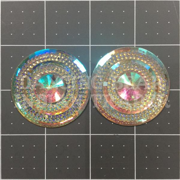 Sparkle Berry Glitz Round Crystal