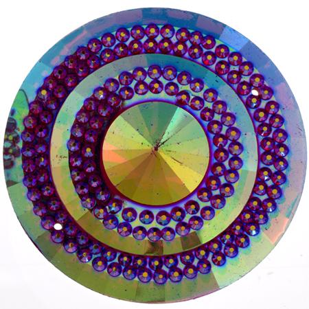 Sparkle Berry Glitz Round Fuschia