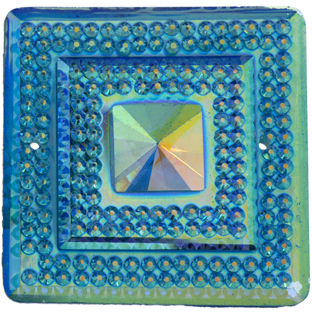 Sparkle Berry Glitz Square Aqua