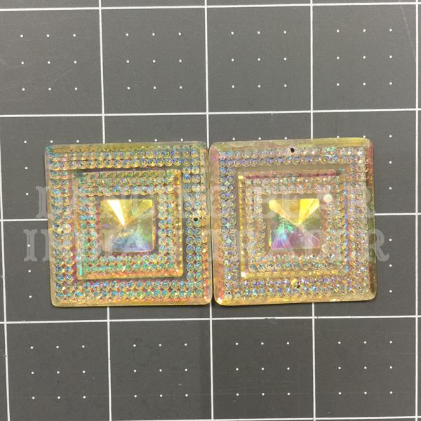 Sparkle Berry Glitz Square Crystal