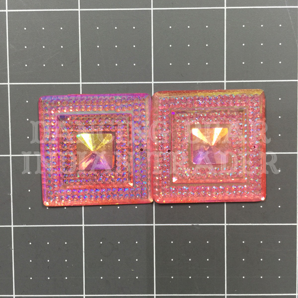 Sparkle Berry Glitz Square Pink