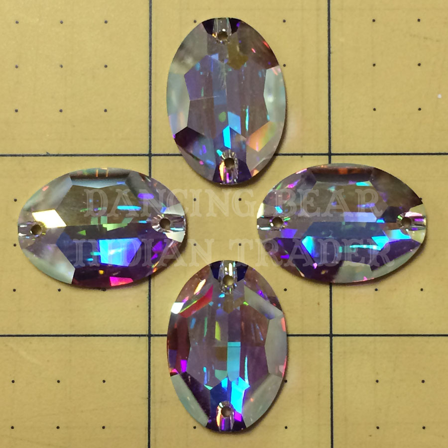 Swarovski Sew-On Oval 24x17mm Crystal AB 1 pc
