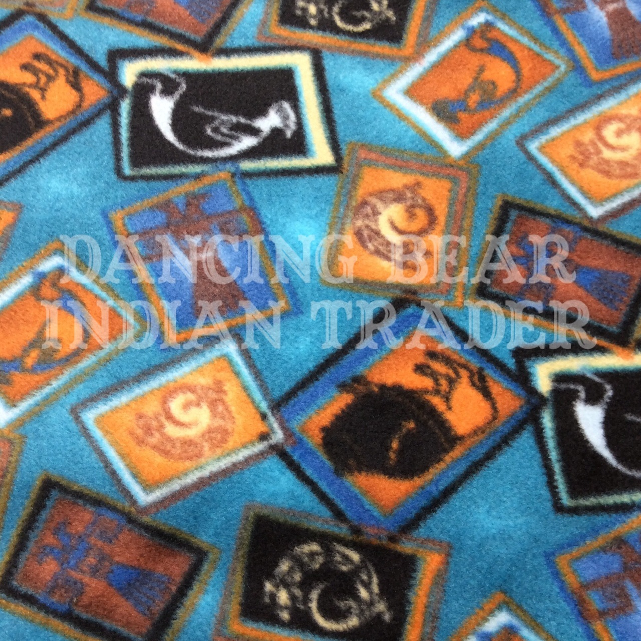 Throw Blanket Turquoise Tossed Native Images