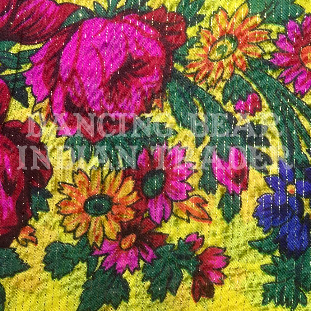 Scarf Metallic Floral Yellow 146