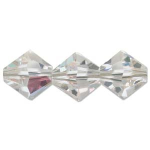 5328-03-CRYSAB-48 3mm Swarovski Bicone Crystal AB 48pcs