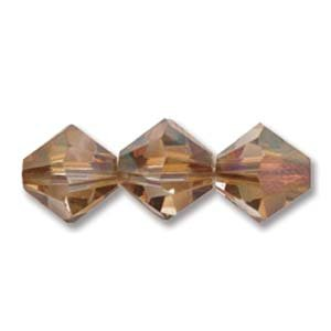 5328-03-CRYSCOP-48 3mm Swarovski Bicone Crystal Copper 48pcs