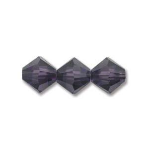 5328-03-PV-48 3mm Swarovski Bicone Purple Velvet 48pcs