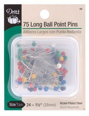 Long Ball Point Pins 1-1/2in 75ct Box