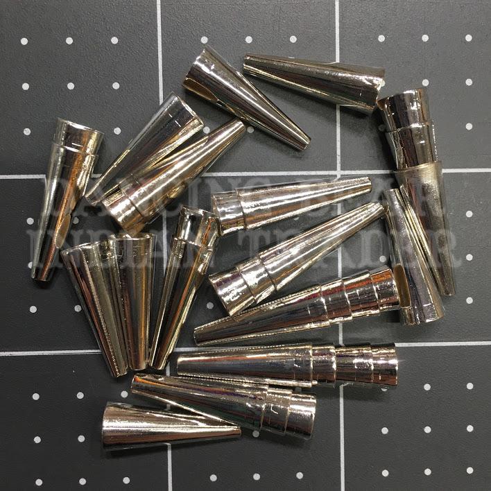 3/4 Silver-plated Cones 100pcs Bulk