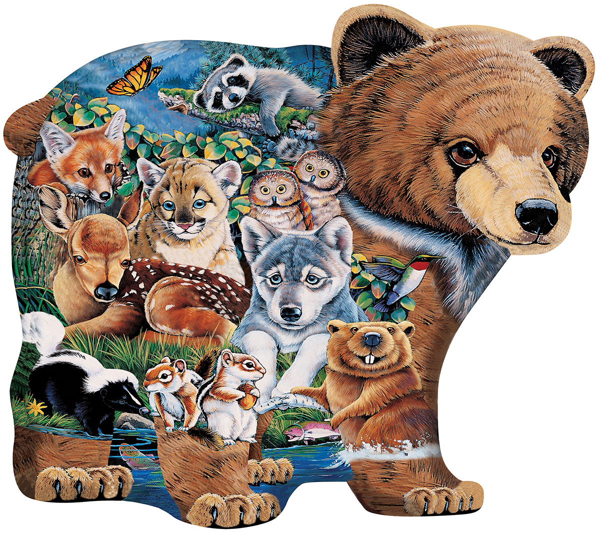 Puzzle Forest Friends Shaped 100pc