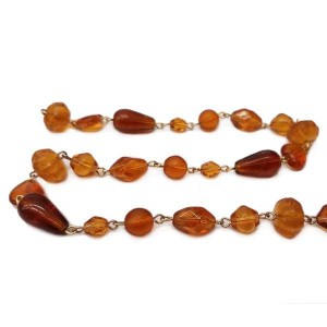 Bead chain Topaz assorted shapes