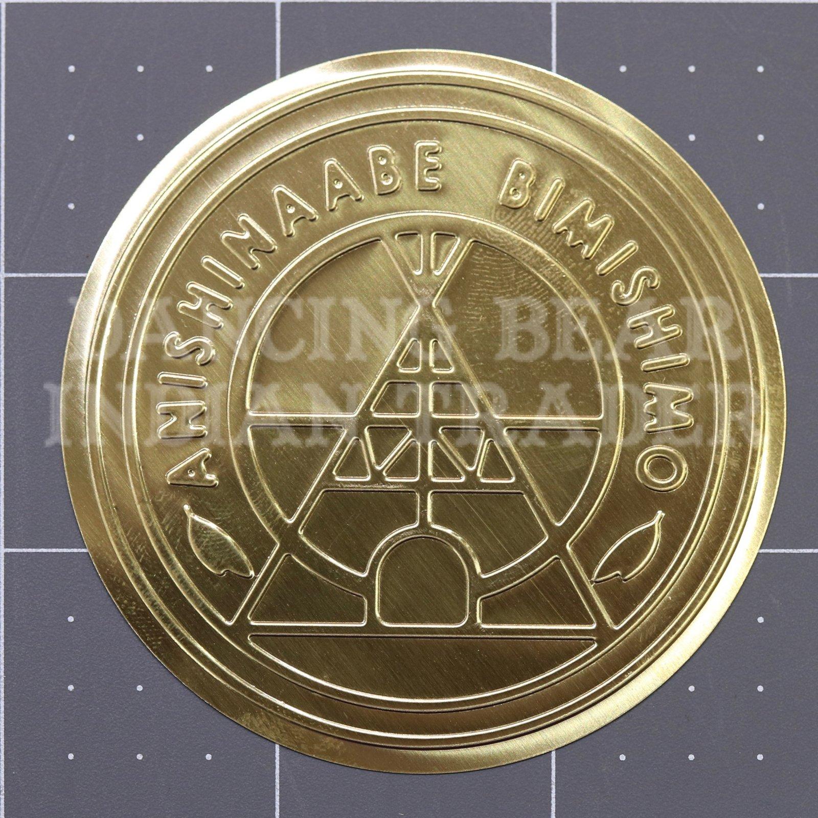 Anishinaabe Bimishimo Adult Jingles 10 pc Flat Gold Brass