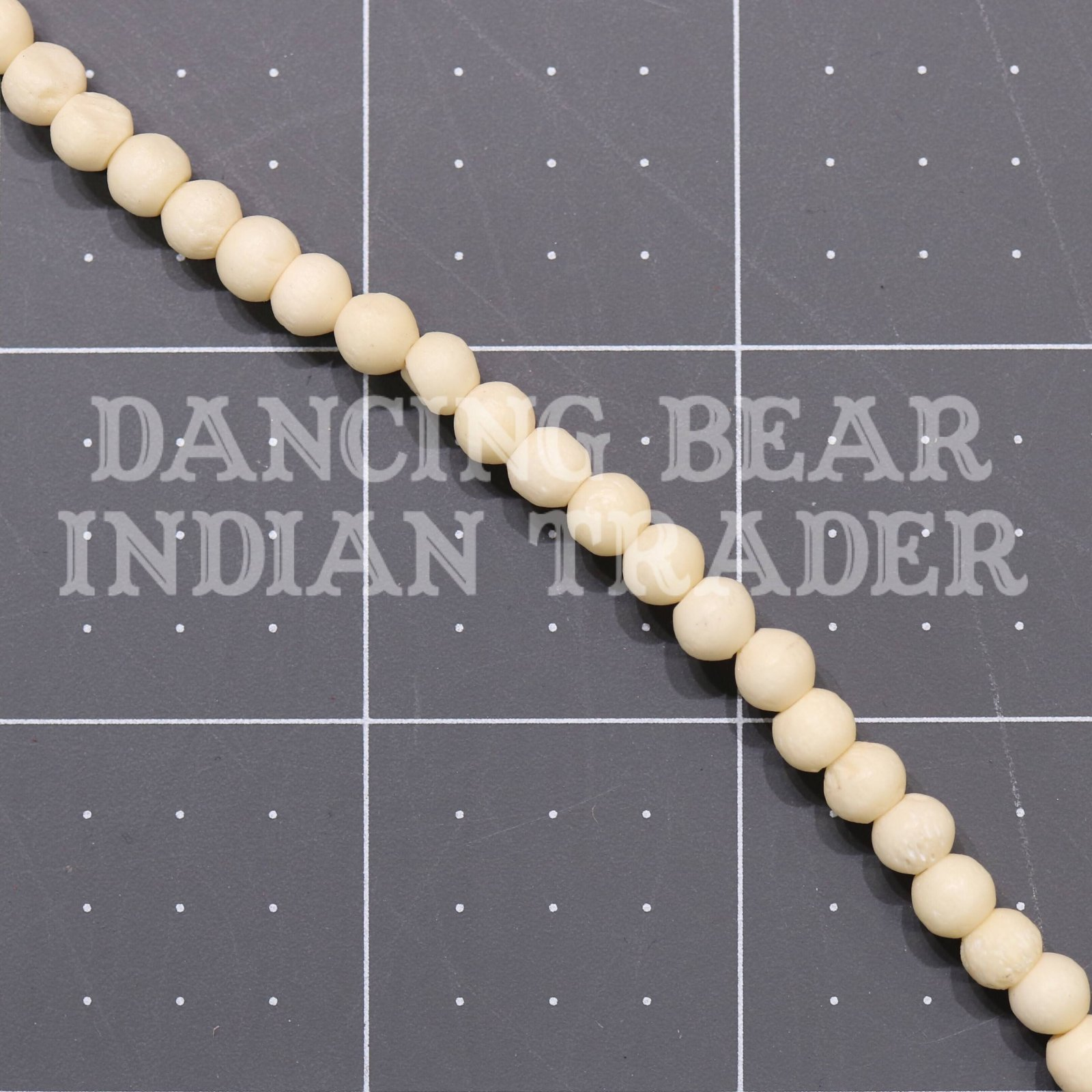 5mm Bone Round Bead Strand