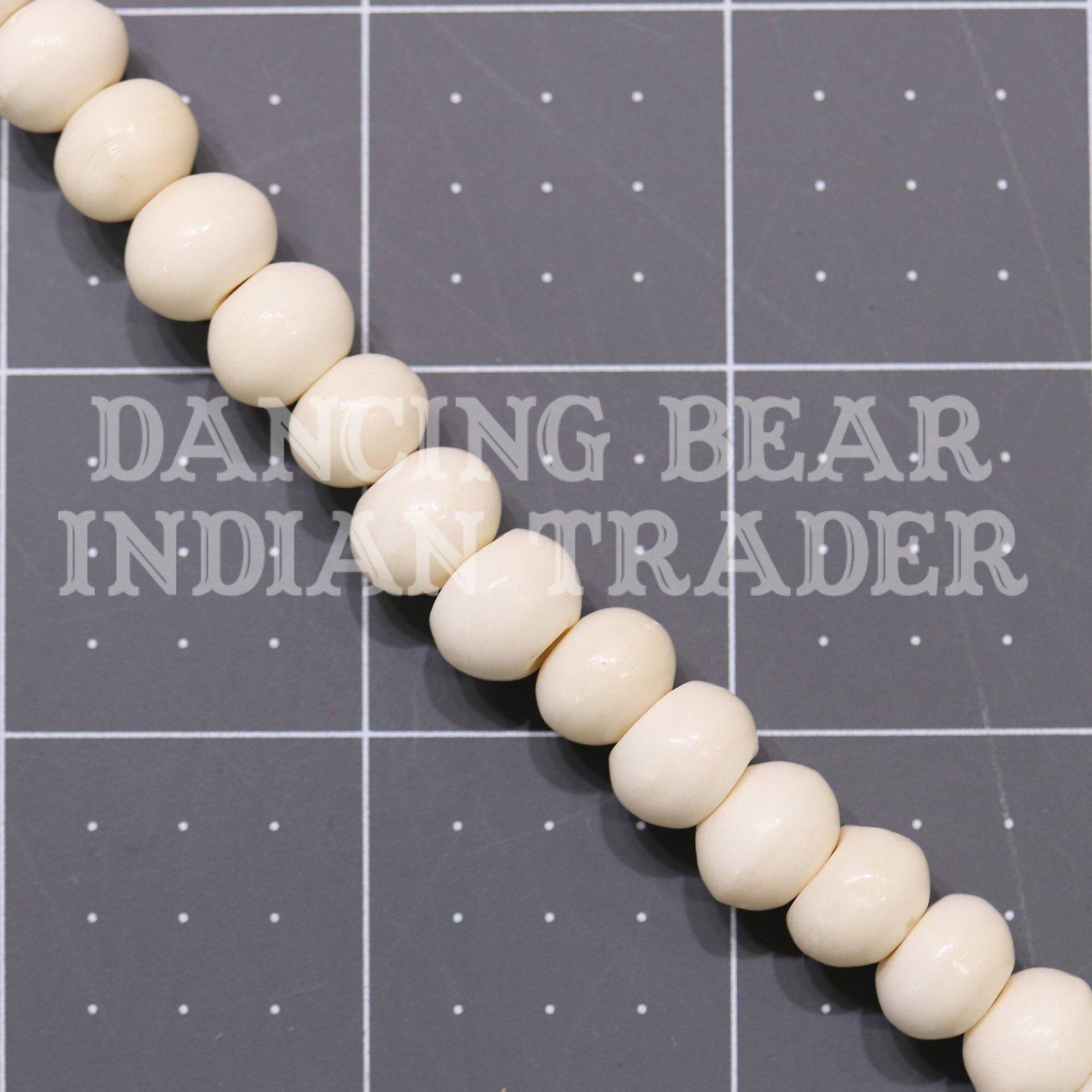 10mm Bone Round Bead Strand
