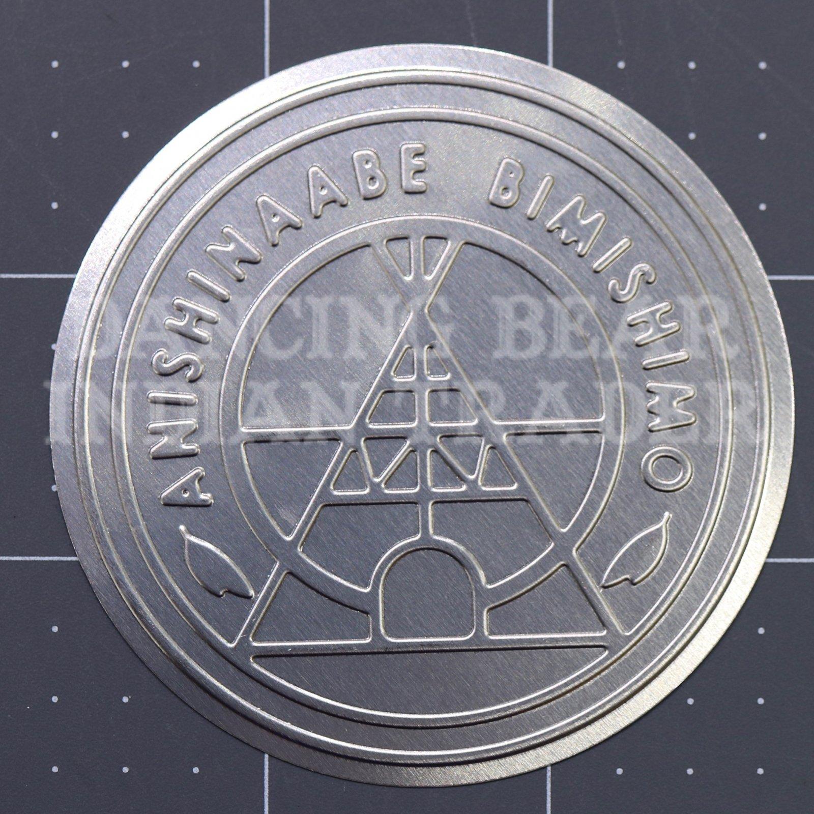 Anishinaabe Bimishimo Pattern Adult Jingles 100 pc Flat Nickel Silver