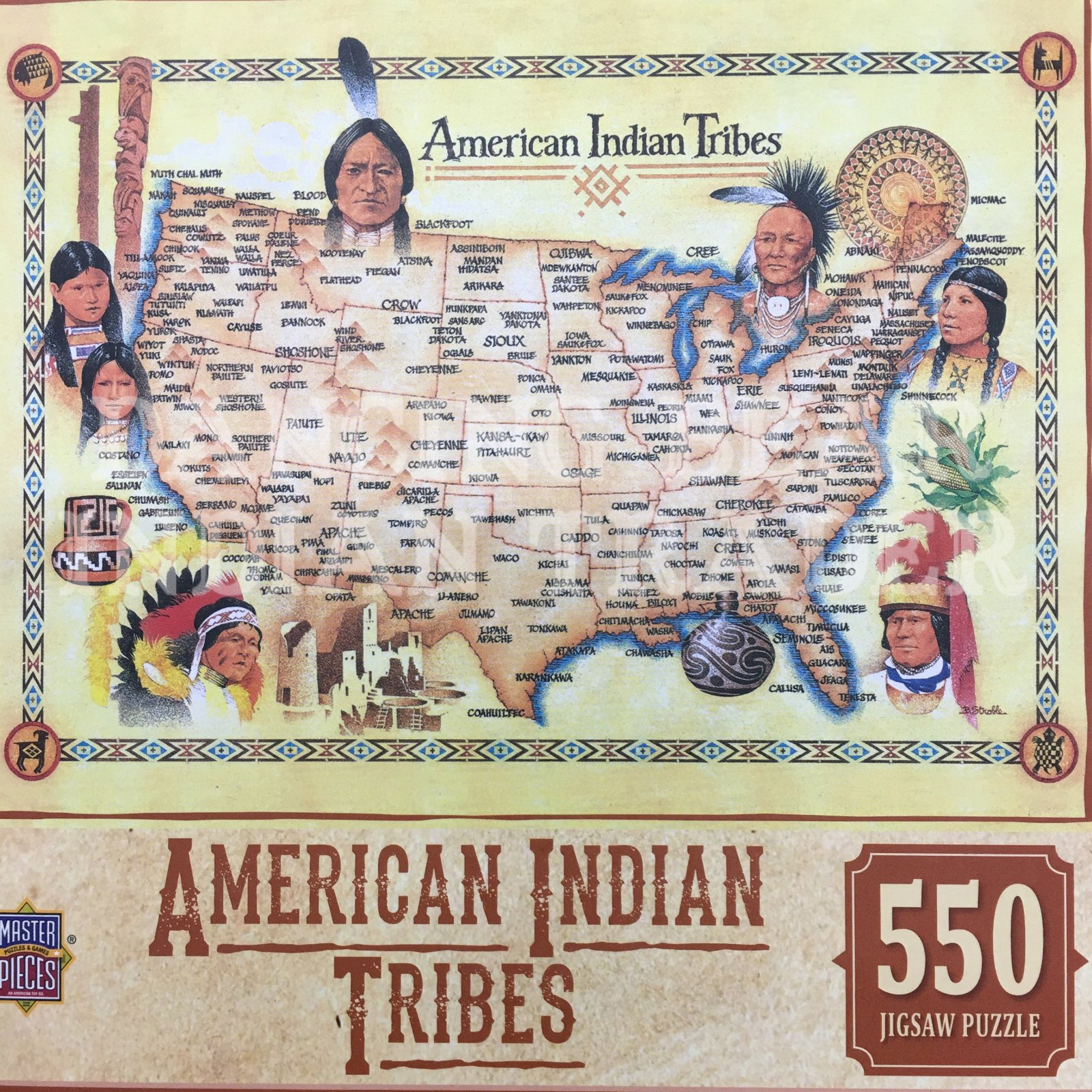 Puzzle American Indian Tribes 550pc
